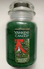 Yankee Candle CHRISTMAS WREATH 22  oz. LARGE JAR HTF SCENT