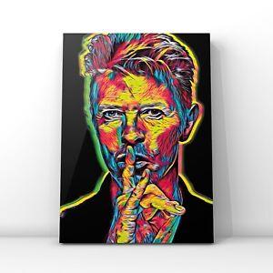 canvas wall art  - David Bowie sssh framed print