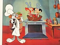 Rare Warner Brothers Bugs Bunny Chez Bugs Laminated Cel Promo Binder Page