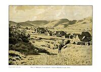 Bernau im Schwarzwald XL Kunstdruck 1909 von Hans Thoma * Oberlehen † Karlsruhe