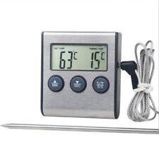 Digital Cooking Meat Food Thermometer Instant Read Oven Smoker BBQ Grill w/Timer