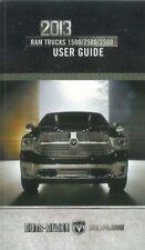 2013 Dodge Truck User Guide plus Owners Manual DVD Operator Book Fuses