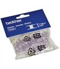 Genuine Brother Sewing Machine Plastic Bobbins 11.5mm A896 (10 Pack)