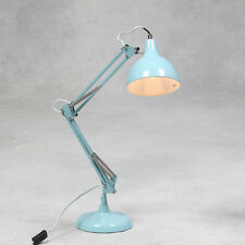 CIELO Blu Lampada da tavolo scrivania Angolo Multi portamento stile retrò Vintage grande in metallo NUOVO