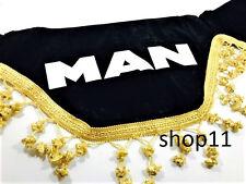 Man Gardinen Frontscheibe Verzierung Scheibenborde Vorhänge Schwarz Gold