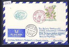 58357i) LH FF Hannover - Nizza Nice France 4.4.92, Karte ab Marshall Islands