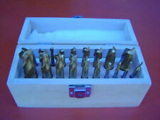 "20Pce (3/16""-3/4"") HSS Titanium Coated End Mill & Slot Drill Set"