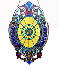 Tiffany Style Stained Glass Oval Window Panel Design 15 x 23 LAST ONE THIS PRICE