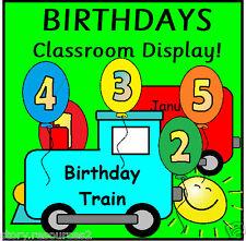 Il nostro treno Compleanno Display ex cathedra fino risorse KS1 eyfs childminder CD