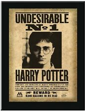 HARRY POTTER DEATHLY HALLOWS UNDESIRABLE No1 WANTED REWARD WOOD WALL PLAQUE SIGN