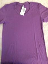 New American Apparel Women's Purple Short Sleeve T Shirt Size Large Purple