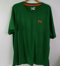 Mens Under Armour Loose Fit Shirt Heat Gear green Pull over size Xl
