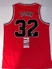Kris Dunn signed Red Chicago Bulls jersey autographed JSA