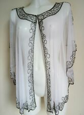 NEW WHITE SEQUIN PONCHO CROP CAPE TOP WEDDING SILVER NIGHT SHRUG BOLERO COVER UP