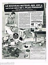PUBLICITE ADVERTISING 065  1967  SKILL  outillage le nouveau moteur 400w