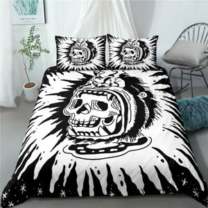 3D Skull Printed Bedding Sets Single Double Queen King Duvet Cover Pillowcase