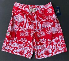 Polo Ralph Lauren Men XXL Underwater Coral 8 inch Kailua Swim Board Shorts NEW