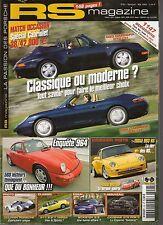 RS MAGAZINE 95 DOLPHIN PORSCHE 1963 180CH 458KG 260KM/H 993 RS 3.8 964 C2 C4