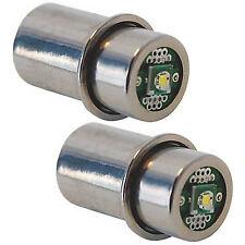 2-Pack 3W LED Upgrade Bulb for Mag-Lite 2 3 D C Cell LWSA201 White Star Krypton