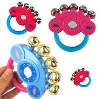 1x sonajero bebé campanillas desarrollo juguetes mano sacudiendo la camp*QA