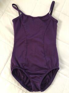 Motionwear Child Girls Camisole V Back Deep Purple Leotard Sz Med Child (8-10)