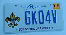 "BOY SCOUTS OF AMERICA  GRAPHIC AUTO  LICENSE PLATE "" GK 04 V  "" EAGLE SCOUTING"