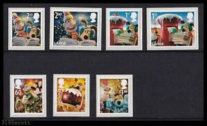 2010 GB Christmas with Wallace & Gromit SG3128-3134 Stamp Set UM MNH