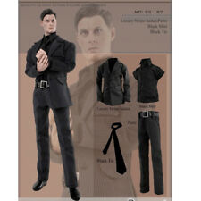 "1/6 Scale Mens Suits Luxury Stripe Jacket / Shirt / Pants / Tie for 12"" Figure"