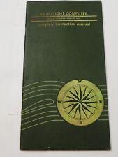 E6-B FLIGHT COMPUTER Instruction Manual Aero Products Research 1967