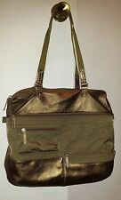 Highway Handbag  Olive Nylon/Bronze Leather