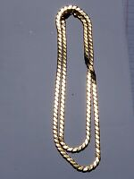 "Authentic Vintage Napier 1980's Gold Tone Herringbone 29"" Chain Necklace"