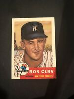 1953 Topps #210 Bob Cerv Rookie Card Yankees MINT