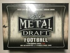 2020 Leaf Metal Draft Football Factory Sealed Jumbo Box 9 Autos + 1 Slabbed Auto
