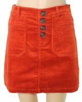 Shinestar Womens Skirts Orange Size Small S Straight Corduroy Stretch $38- 648