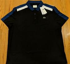 Mens Authentic Lacoste Ultra Dry Pique Polo Shirt Black/Inkwell 3 (Small) $98