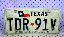 Texas License Plate TDR-91V The Lone Star State Flag TX Tag Collectible Garage