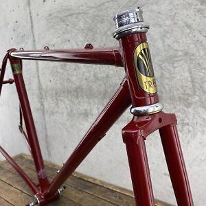 """Vintage Trek Frame Set 1982 614 19"""" Reynolds 531 48cm 52cm Road Bike Small 126mm"""