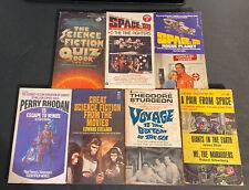 Vintage Sci Fi Paperback Book Lot Space 1999 Apes Voyage Quiz