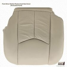 2003 2004 Cadillac Escalade Driver Side Bottom Perforated Leather Seat Cover Tan