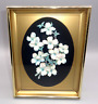 Vintage Wall Art Shadow Box 3D Decoupage Flowers Floral Paper Lacquer Picture
