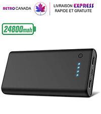 Power Bank 24800mAh, Chargeur de téléphone portable, batterie et Lampe externe