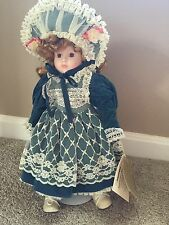 Seymour Mann Connoisseur Collection Porcelain Dolls With Stand