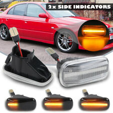 2X Sequential LED Side Marker Light Smoke For Honda Civic CR-V Acura RSX  *//