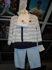 Carters Boys 9 Month Bodysuit Outfit Set Piece 3 New w/ Tag Pants Onezy Zipper