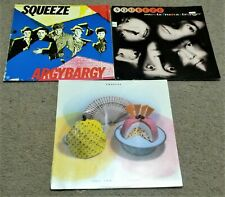 lot 3 SQUEEZE LP record albums: Cosi Fan Tutti Frutti Sweets Stranger Argybargy