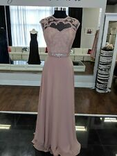 Size 22w champagne lace illusion neckline sheath skirt mother's dress