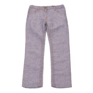 RRP€110 DOLCE & GABBANA Jeans Size 6Y / 113-119CM Linen Blend Contrast Stitching