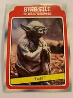 1980 Topps Star Wars Empire Strikes Back Yoda Star File Card #9 Jedi