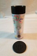 Vintage STARBUCKS COFFEE TUMBLER old logo coffee brands with Coaster #17