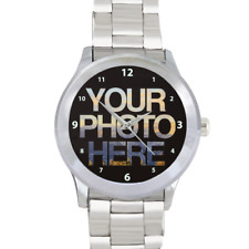 Stainless Steel Personalised Gift Watch Send Photo Using eBay Messages